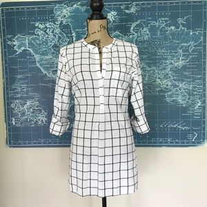 Old Navy Windowpane Tunic TALL